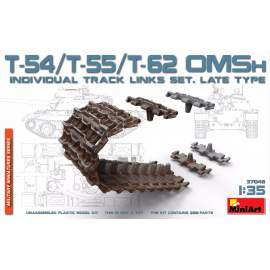Miniart 1:35 T-54/T-55/T-62 OMSh Individual Track Links Set.Late Type