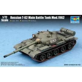 Trumpeter 1:72 Russian T-62 Main Battle Tank Mod.1962 harcjármű makett