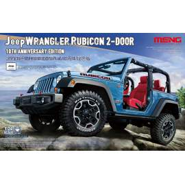 Meng Model 1:24 Jeep Wrangler Rubicon 2-Door 10th Anniversary Edition