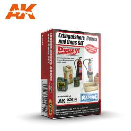 AK-Interactive - 1:24 Extinguishers, boxes and cans set
