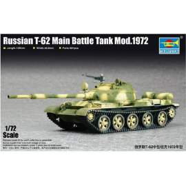 Trumpeter 1:72 Russian T-62 Main Battle Tank Mod.1972 harcjármű makett