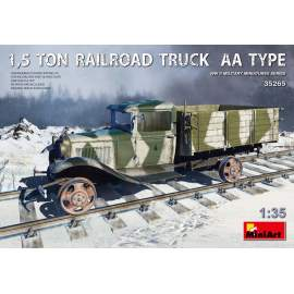 Miniart 1:35 1,5 Ton Railroad Truck AA Type harcjármű makett