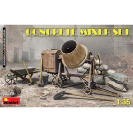 Miniart 1:35 Concrete Mixer Set