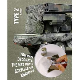 AK Interactive camouflage net personalized white type 2.