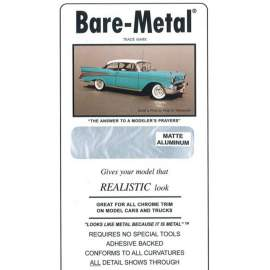 BARE METAL FOIL Matt Aluminium (self adhesive)