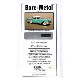 BARE METAL FOIL New Improved Chrome (self adhesive)