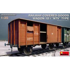 "Miniart 1:35 Railway Covered Goods Wagon 18 t ""NTV""-Type"