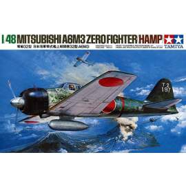 Tamiya 1:48 A6M3 Type 32 Zero Fighter repülő makett