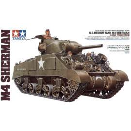 Tamiya 1:35 M4 Sherman early version harcjármű makett