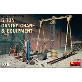 Miniart 1:35 5Ton Gantry Crane & Equipment