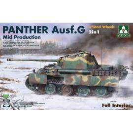 Takom 1:35 Panther G Mid Steelwheel 2in1 (full Interior)