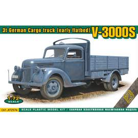 Ace Model 1:72 V3000S 3t German Cargo truck (early flatbed)