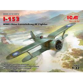 ICM 1:32 I-153, WWII China Guomindang AF Fighter repülő makett