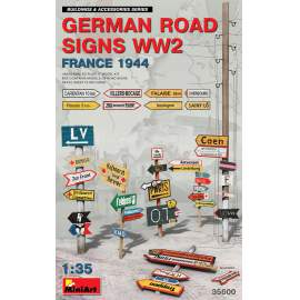 Miniart 1:35 German Road Signs WW2 (France 1944)
