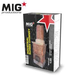 MIG Productions 1:35 Industrial ruined chimney