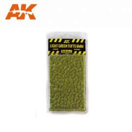 AK Interactive tufts, Light green tufts 6mm