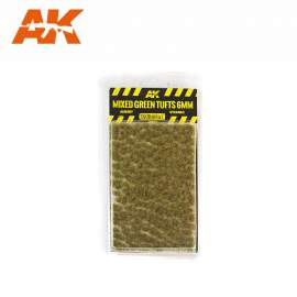 AK Interactive tufts, Mixed green tufts 6mm