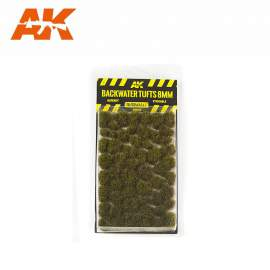 AK Interactive tufts, Blackwater tufts 8mm