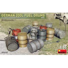 Miniart 1:35 German 200L Fuel Drum Set WW2