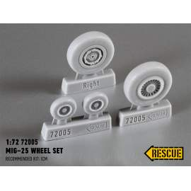 Rescue 1:72 MiG−25 wheel set
