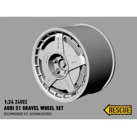 Rescue 1:24 Audi S1 gravel wheel set