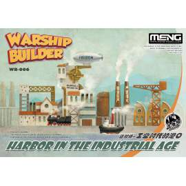 Meng Model Warship Builder-Harbor In The Industrial Age