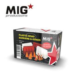 MIG Productions 1:35 Plastic Road Barriers & Cones