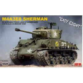 Ryefield model 1:35 SHERMAN M4A3E8 with workable Track links