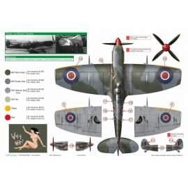 "Exito Decals 1:72 ""Sexy Spitfires"" Supermarine Spitfire LF Mk"