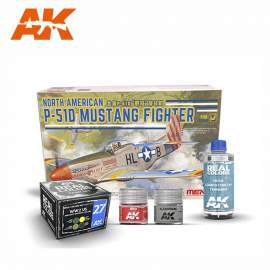 Meng Model 1:48 North American P-51D Mustang Fighter pack