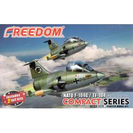 Freedom model kit Compact Series F104 and TF-104 star Fighter NATO
