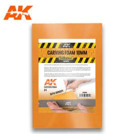 AK Interactive Carving foam 10mm A4 Size (305 x 228 mm)