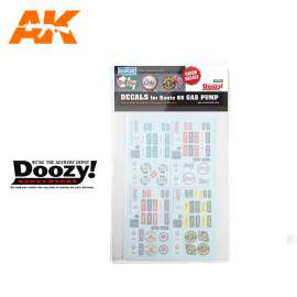 AK Interactive 1:24 Decals for Route 66 Gas Pump (Color Decals)