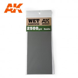 AK Interactive Wet Sandpaper 2500 Grit. 3 units