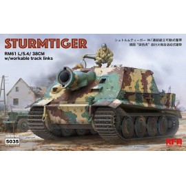 Ryefield model 1:35 Sturmtiger with workable tracks