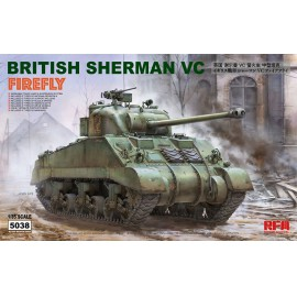 Ryefield model 1:35 British Sherman vc firefly w/workable track links