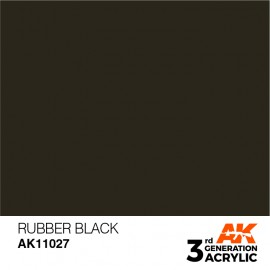 Acrylics 3rd generation Rubber Black 17ml