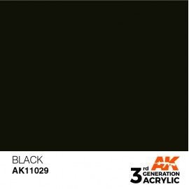 Acrylics 3rd generation Black 17ml