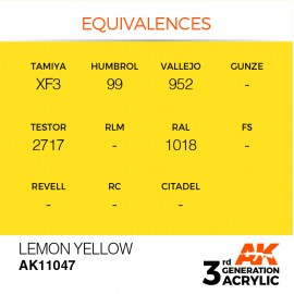 Acrylics 3rd generation Lemon Yellow 17ml