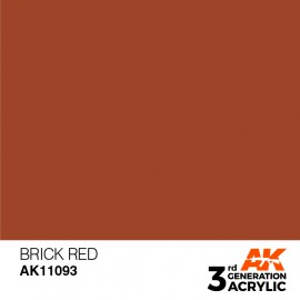 Acrylics 3rd generation Brick Red 17ml