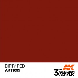 Acrylics 3rd generation Dirty Red 17ml