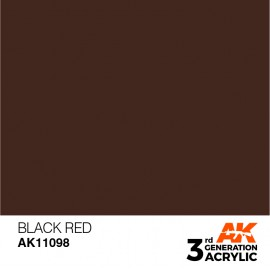 Acrylics 3rd generation Black Red 17ml