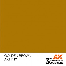 Acrylics 3rd generation Golden Brown 17ml
