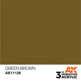 Acrylics 3rd generation Green-Brown 17ml