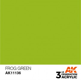 Acrylics 3rd generation Frog Green 17ml