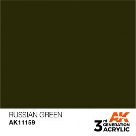 Acrylics 3rd generation Russian Green 17ml
