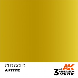 Acrylics 3rd generation Old Gold 17ml