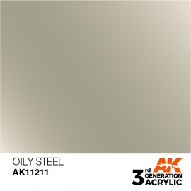 Acrylics 3rd generation Oily Steel 17ml