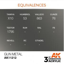 Acrylics 3rd generation Gun Metal 17ml