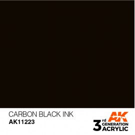 Acrylics 3rd generation Carbon Black INK 17ml